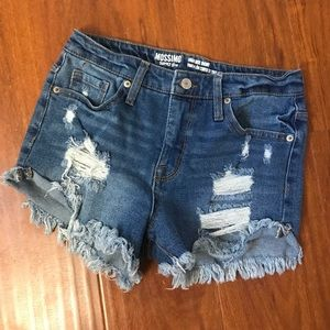 Distressed High Waist Shorts
